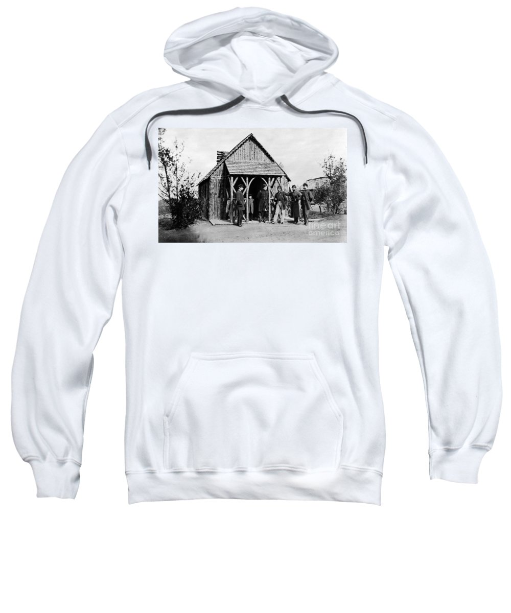 1860s Sweatshirt featuring the photograph Civil War: Union Officers by Granger