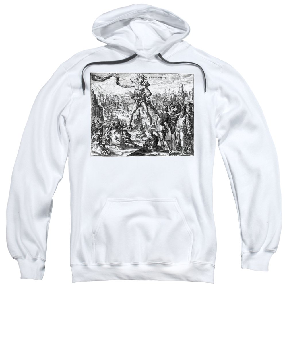 3rd Century B. C. Sweatshirt featuring the photograph Colossus Of Rhodes by Granger
