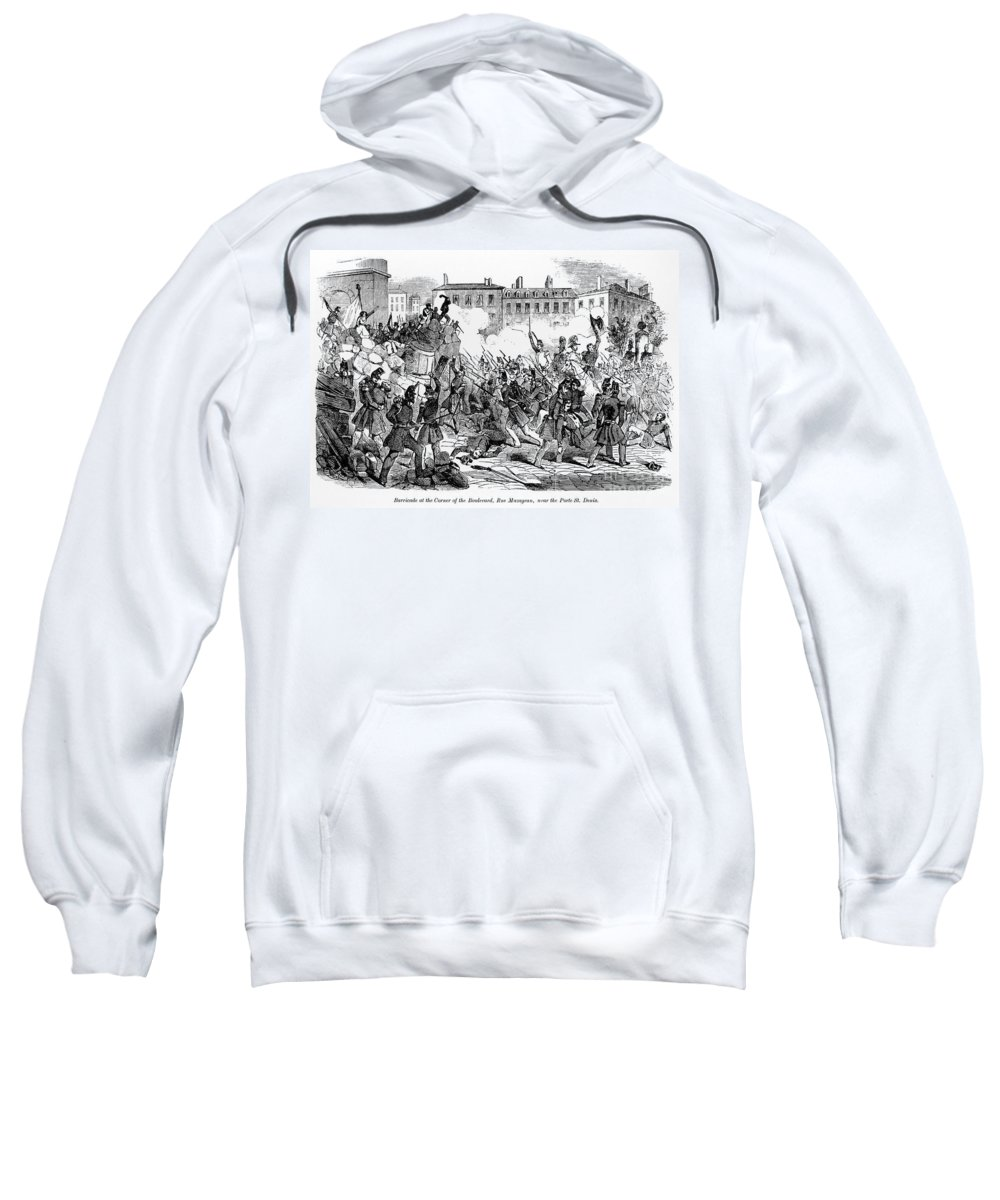 1848 Sweatshirt featuring the photograph France: Revolution, 1848 by Granger