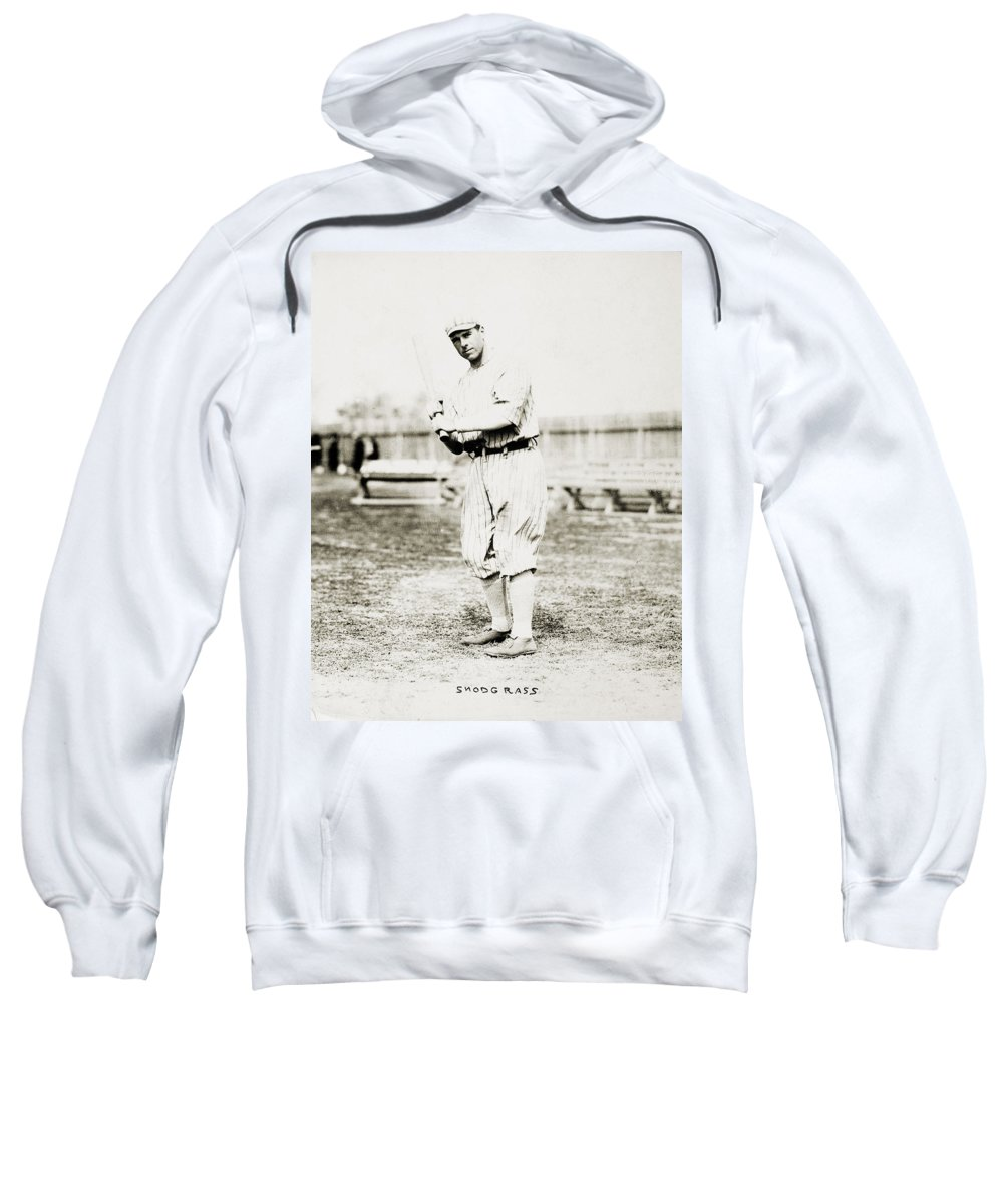 1914 Sweatshirt featuring the photograph Fred Snodgrass (1887-1974) by Granger