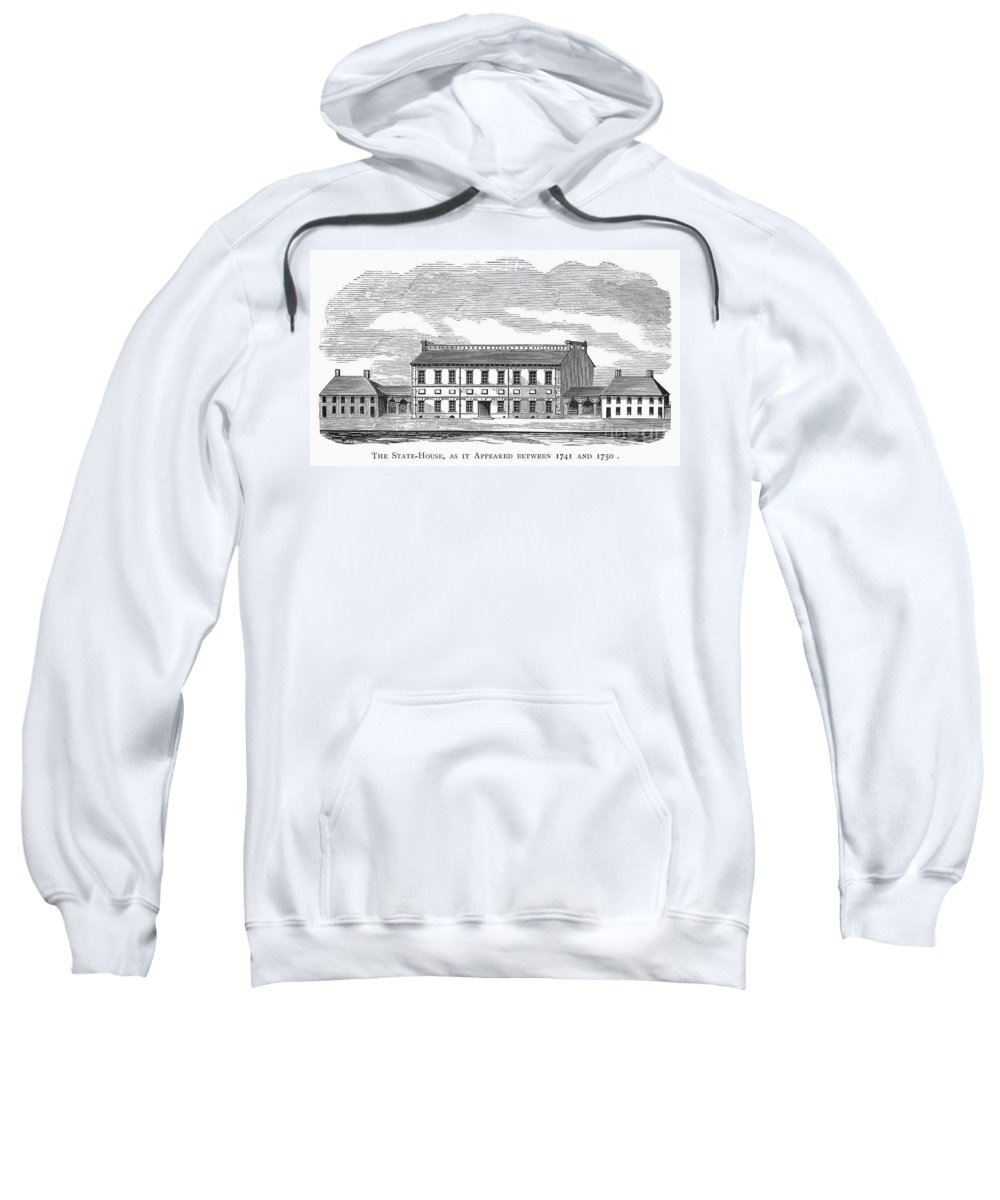 1750 Sweatshirt featuring the photograph Philadelphia State House by Granger