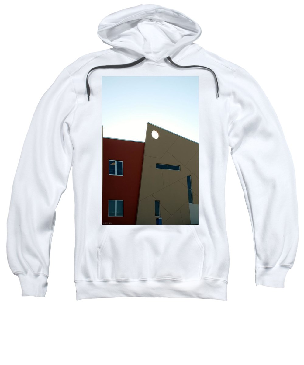Architecture Sweatshirt featuring the photograph Q W School by Rob Hans