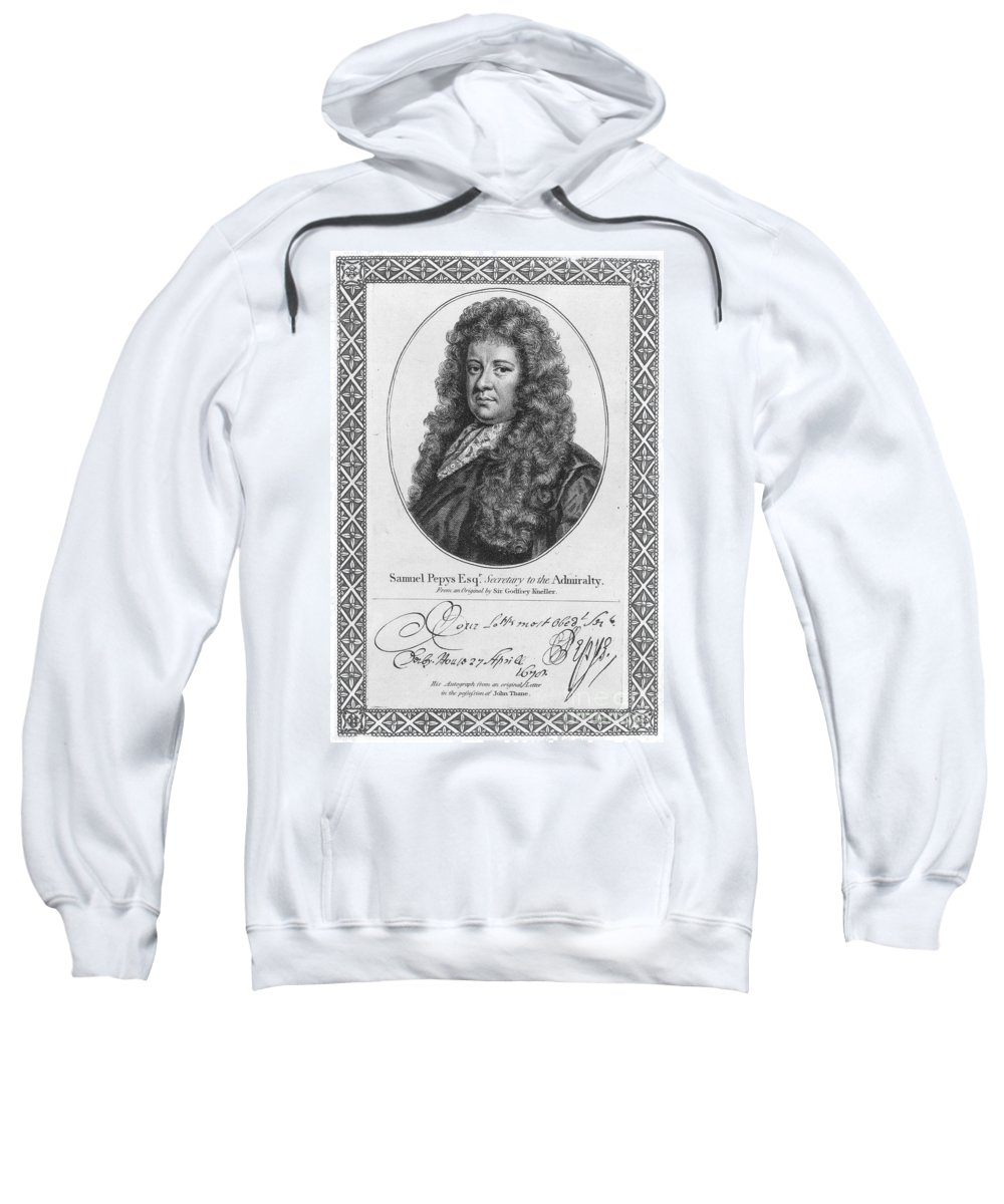 18th Century Sweatshirt featuring the photograph Samuel Pepys (1633-1703) by Granger