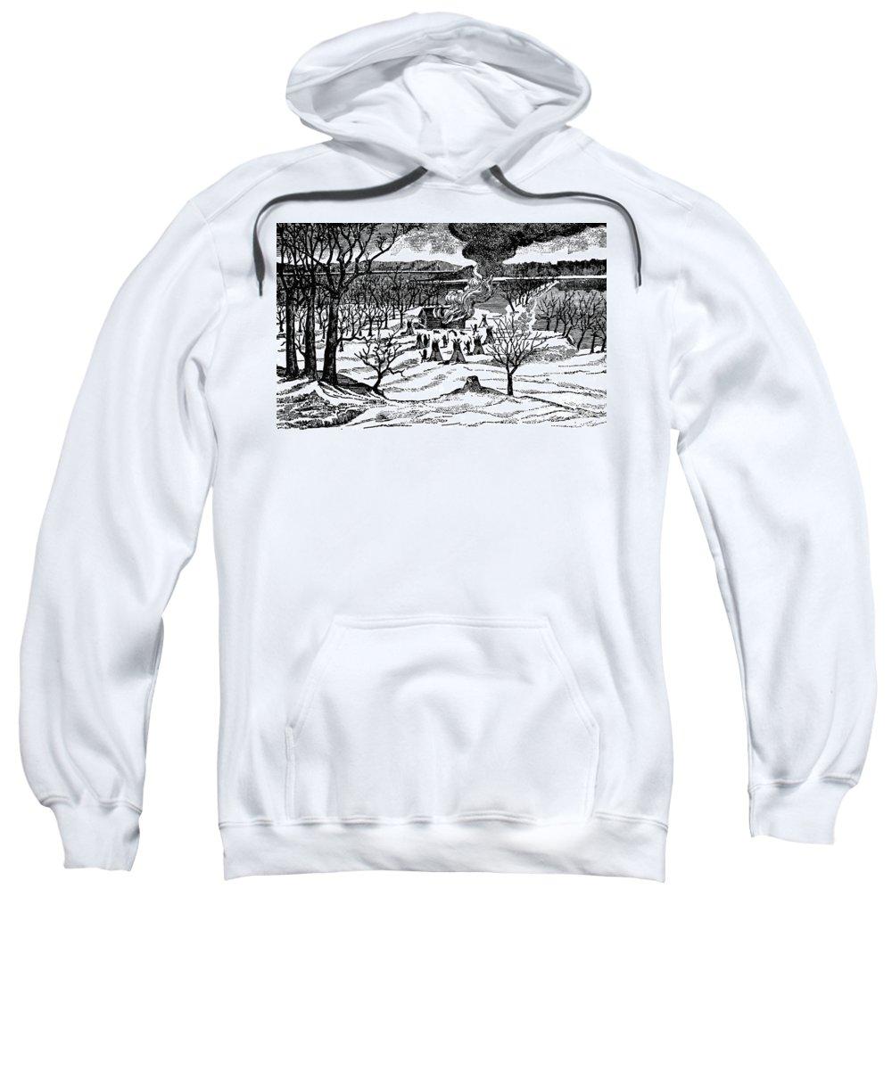 1857 Sweatshirt featuring the photograph Spirit Lake Massacre, 1857 by Granger