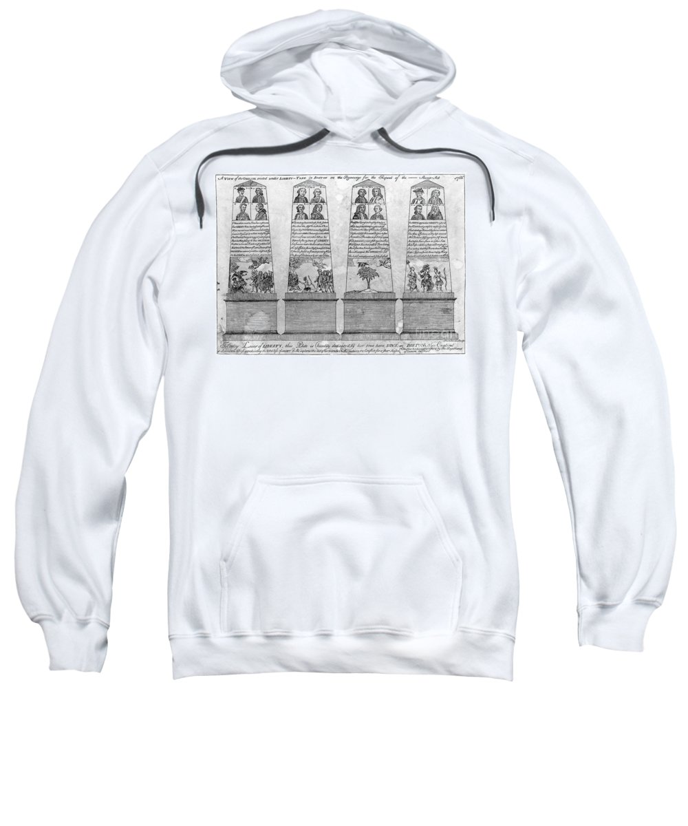 1766 Sweatshirt featuring the photograph Stamp Act Repeal, 1766 by Granger