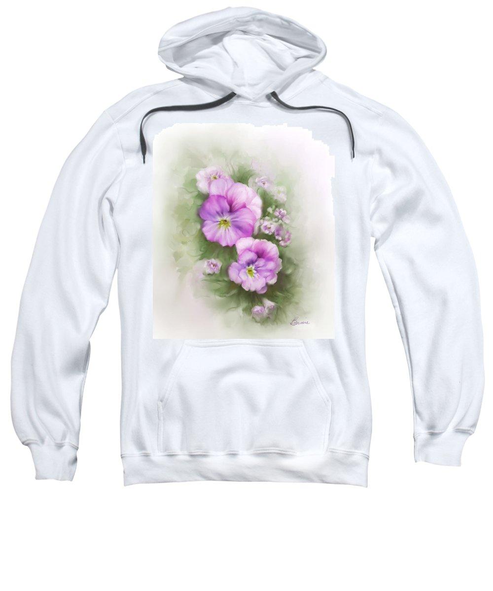 Viola Sweatshirt featuring the painting Viola by Bonnie Willis