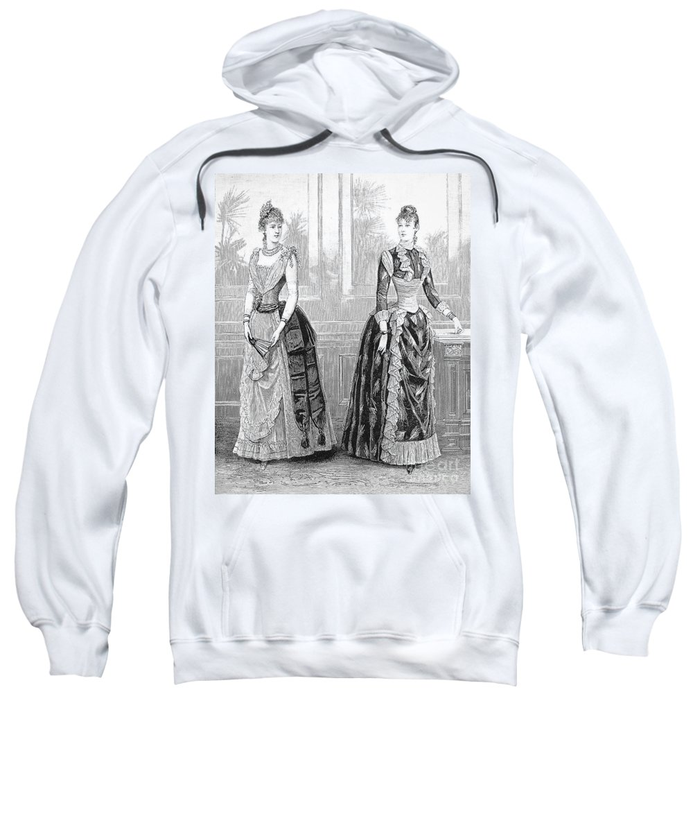 1889 Sweatshirt featuring the photograph Womens Fashion, 1889. For Licensing Requests Visit Granger.com by Granger