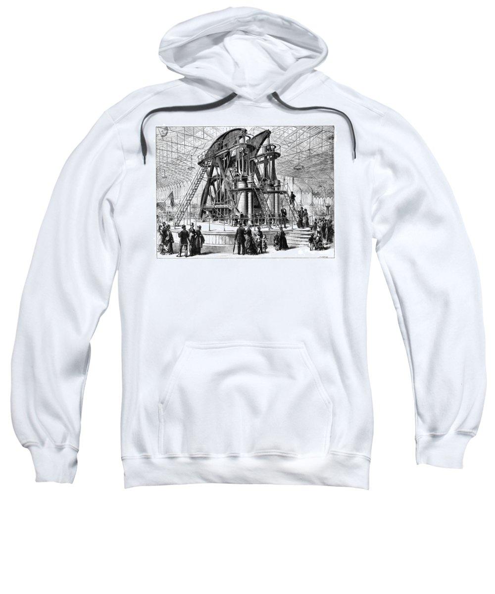 1876 Sweatshirt featuring the photograph Corliss Steam Engine, 1876 by Granger