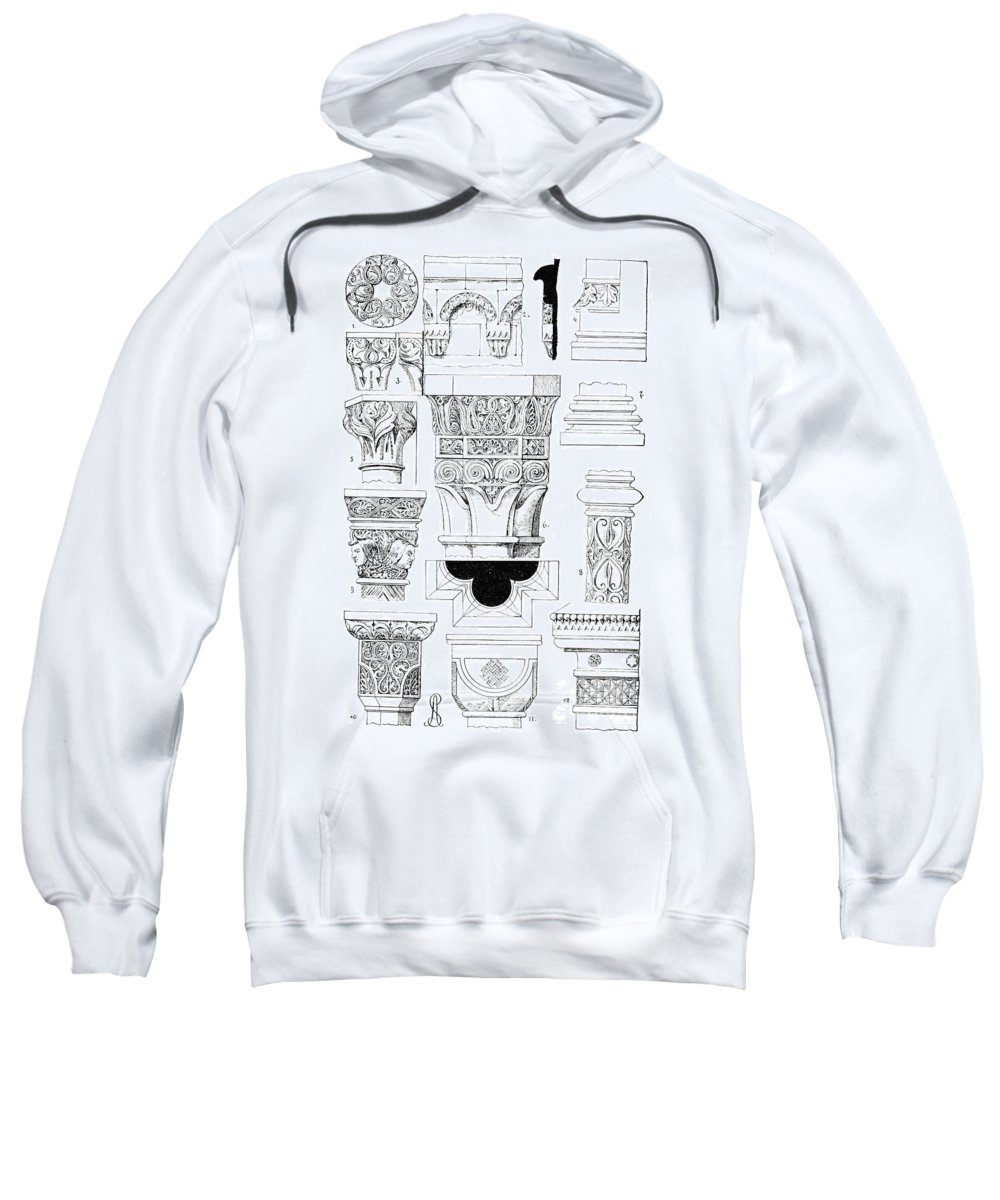 Ancient Sweatshirt featuring the photograph Romanesque Ornament by Granger