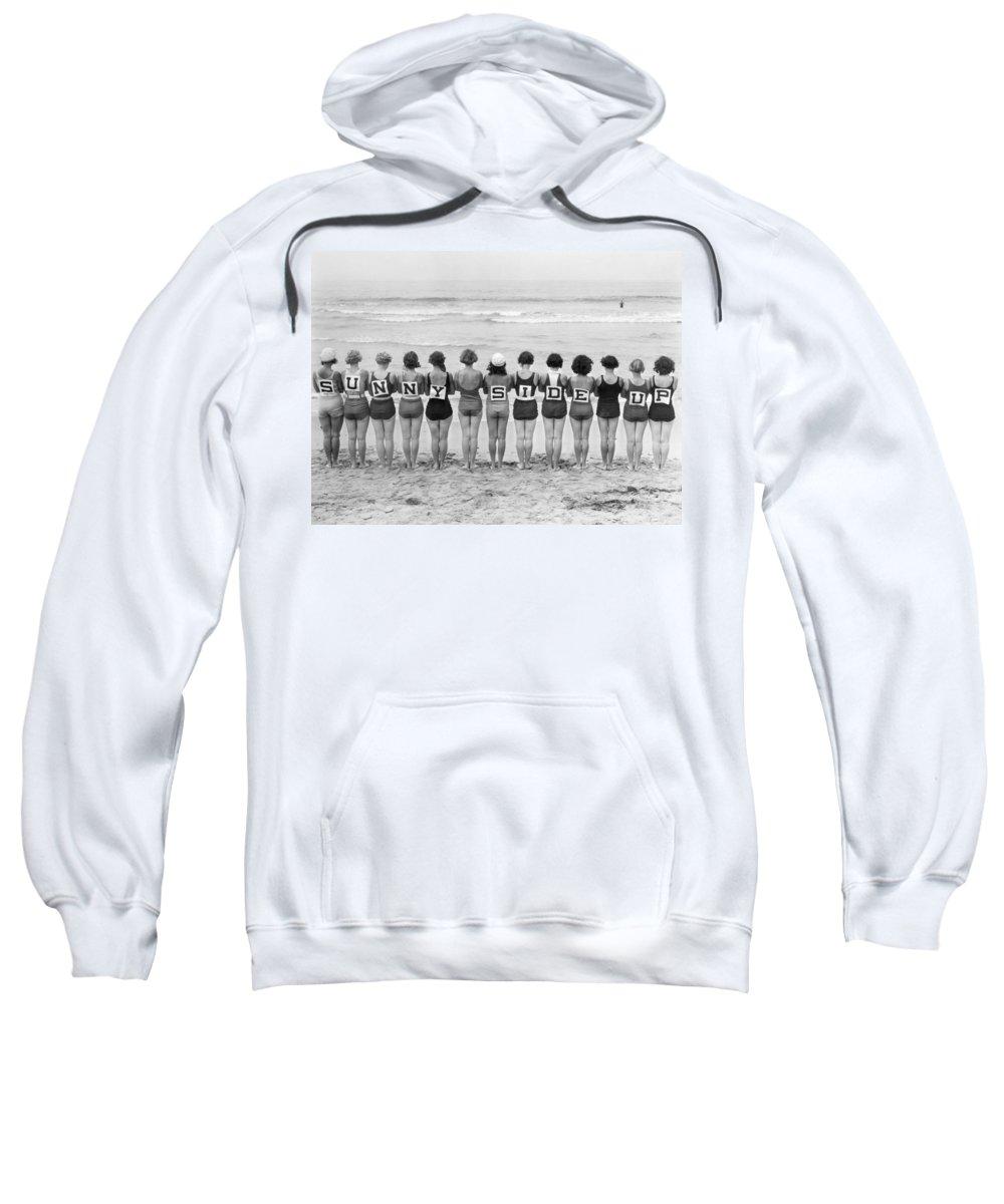 -beaches- Sweatshirt featuring the photograph Silent Film Still: Beach by Granger