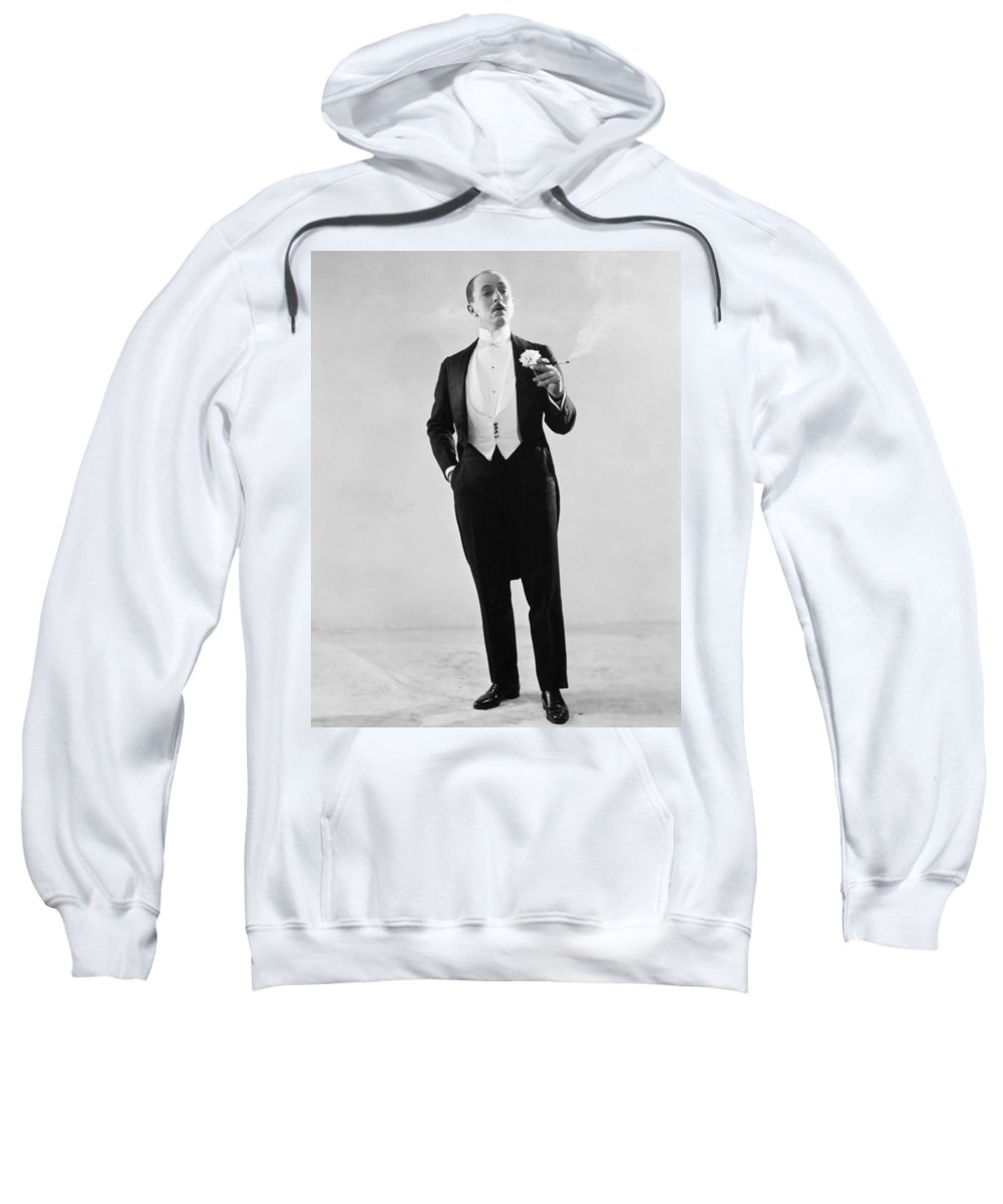 1921 Sweatshirt featuring the photograph Silent Film Still: Fashion by Granger