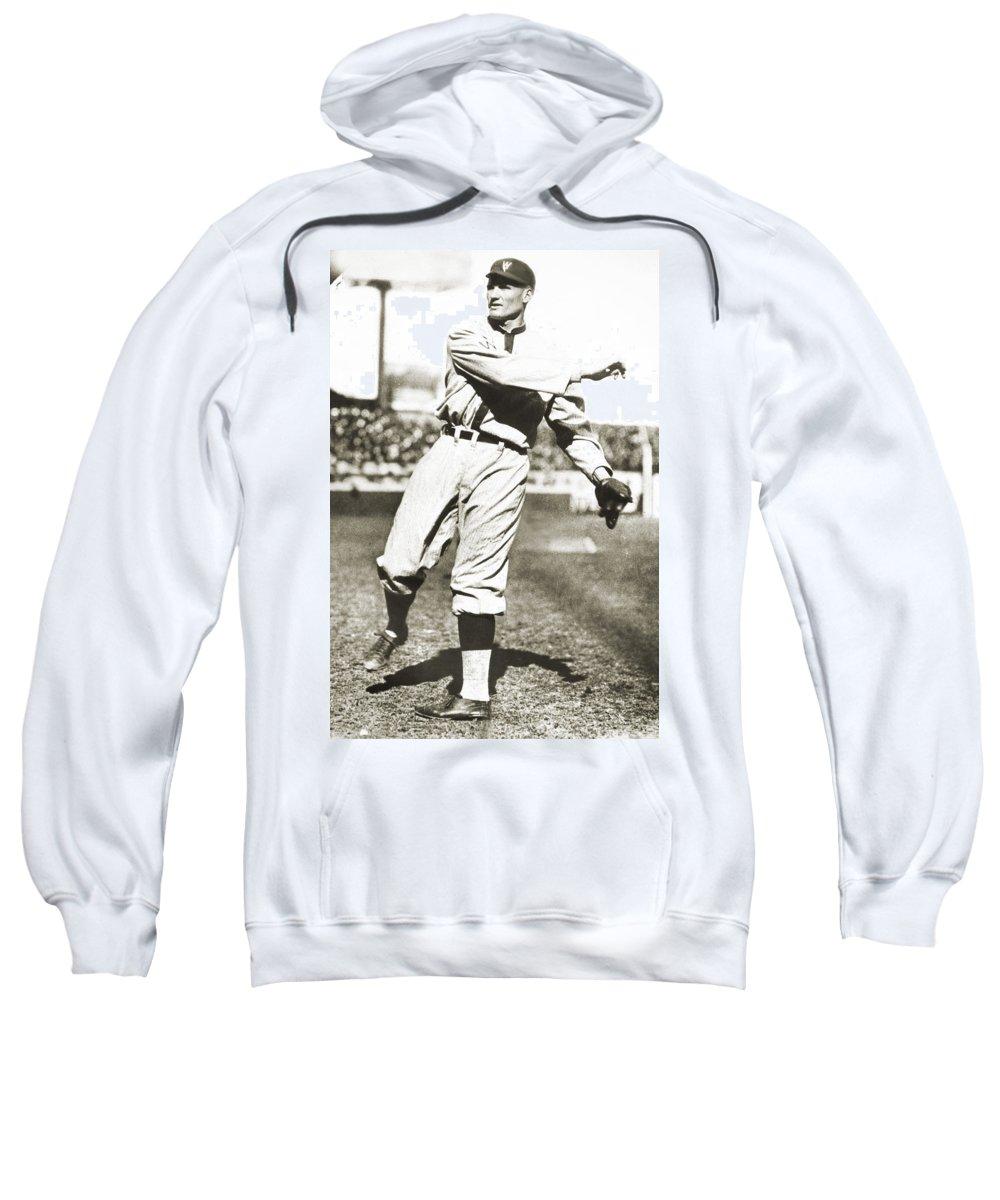 1925 Sweatshirt featuring the photograph Walter Johnson (1887-1946) by Granger
