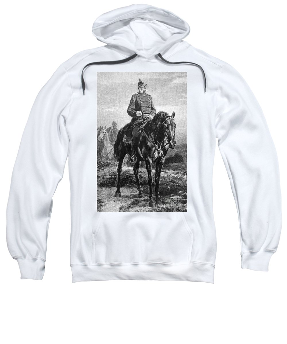 19th Century Sweatshirt featuring the photograph William I Of Prussia by Granger