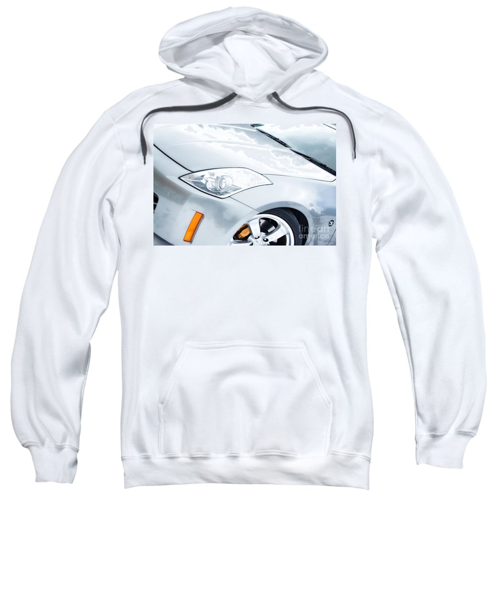 Automobiles Sweatshirt featuring the photograph 350z Car Front Close-up by James BO Insogna