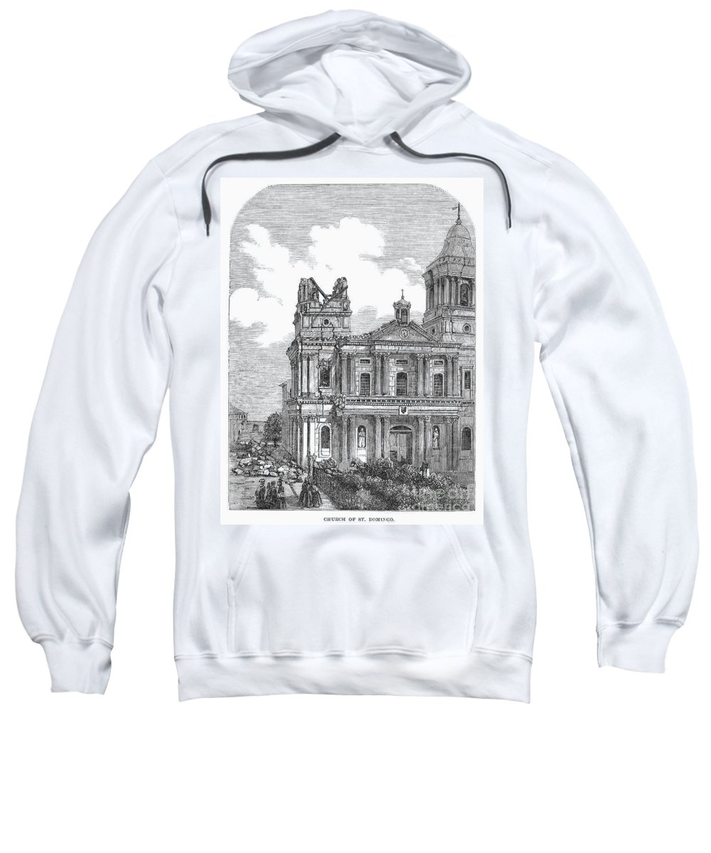 1863 Sweatshirt featuring the photograph Manila: Earthquake, 1863 by Granger