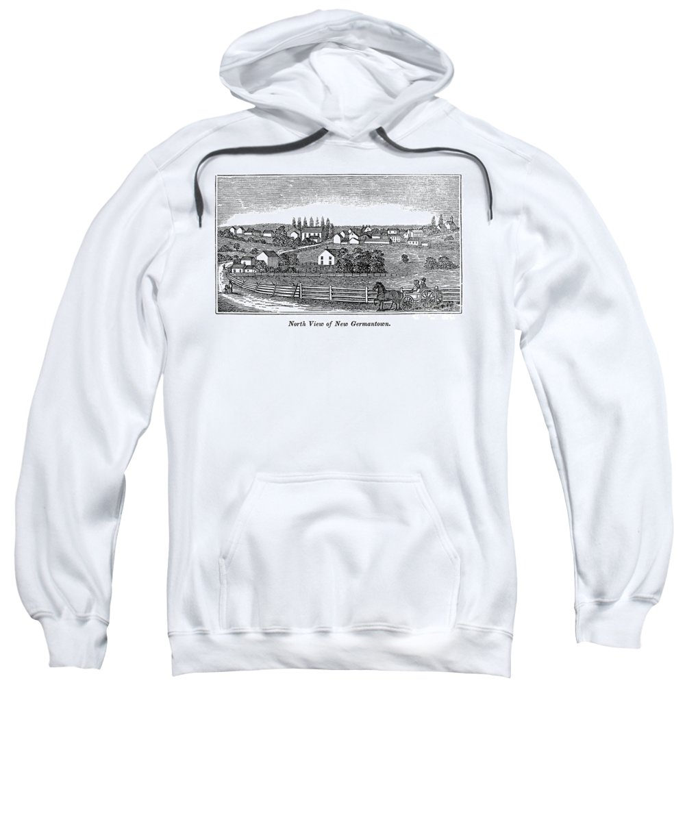 1844 Sweatshirt featuring the photograph New Jersey, 1844 by Granger