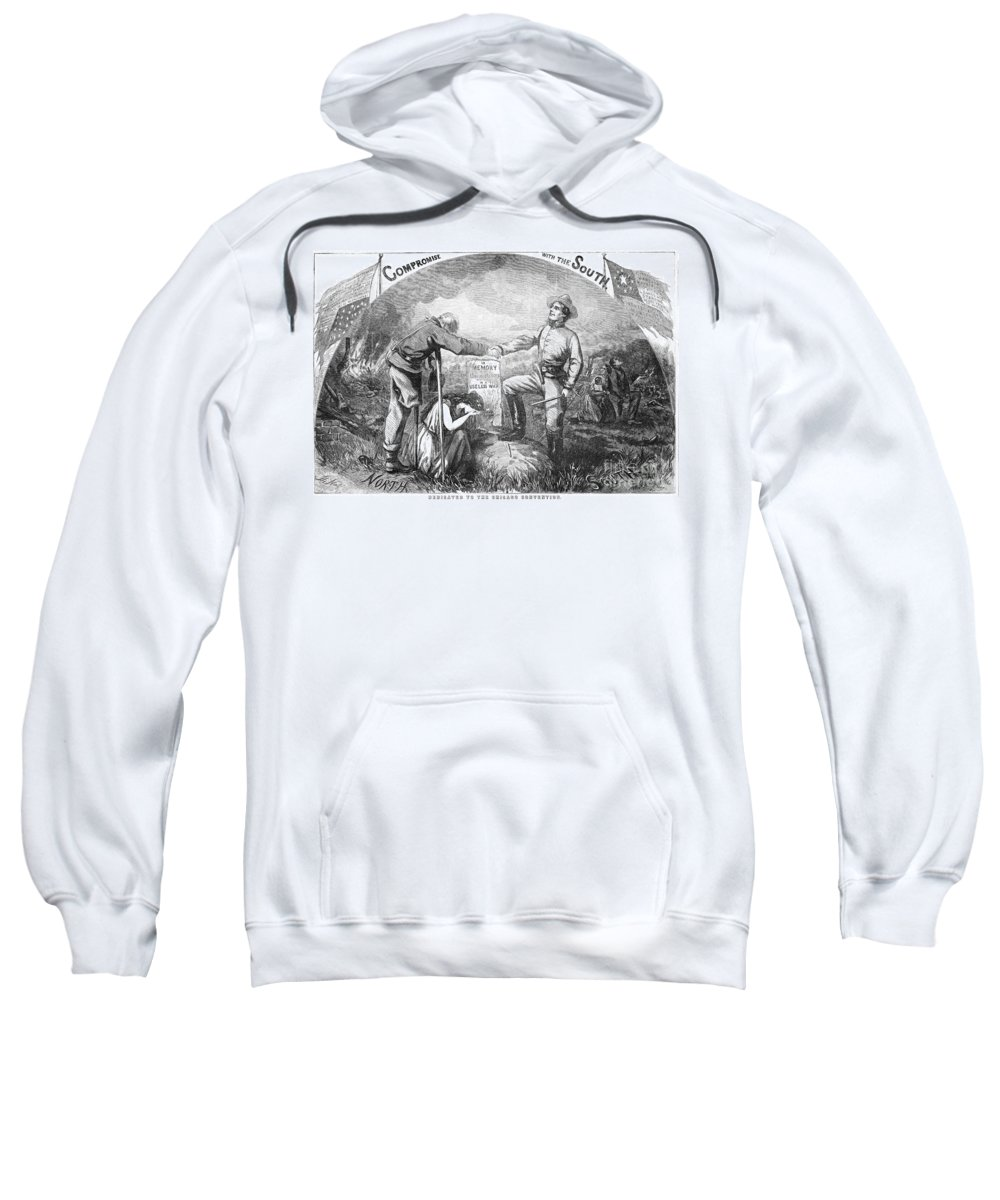 1864 Sweatshirt featuring the photograph Presidential Campaign, 1864 by Granger