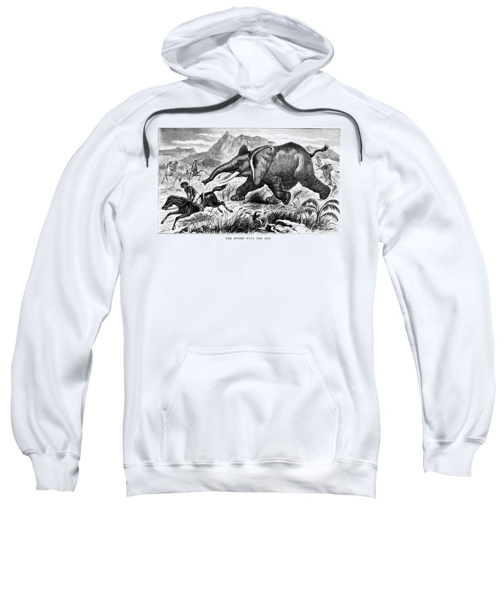 1868 Sweatshirt featuring the photograph Samuel White Baker by Granger