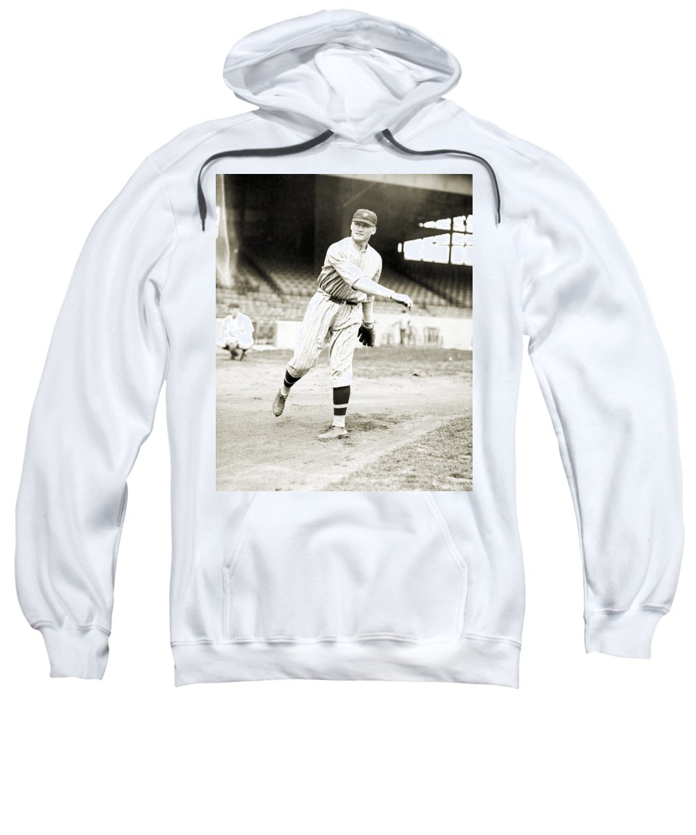 1924 Sweatshirt featuring the photograph Walter Perry Johnson by Granger