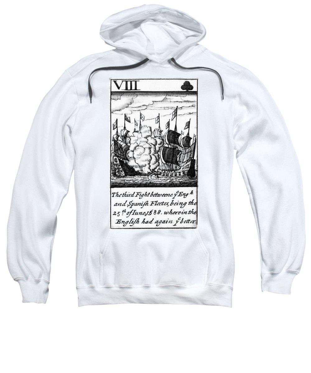 1588 Sweatshirt featuring the photograph Spanish Armada, 1588 by Granger
