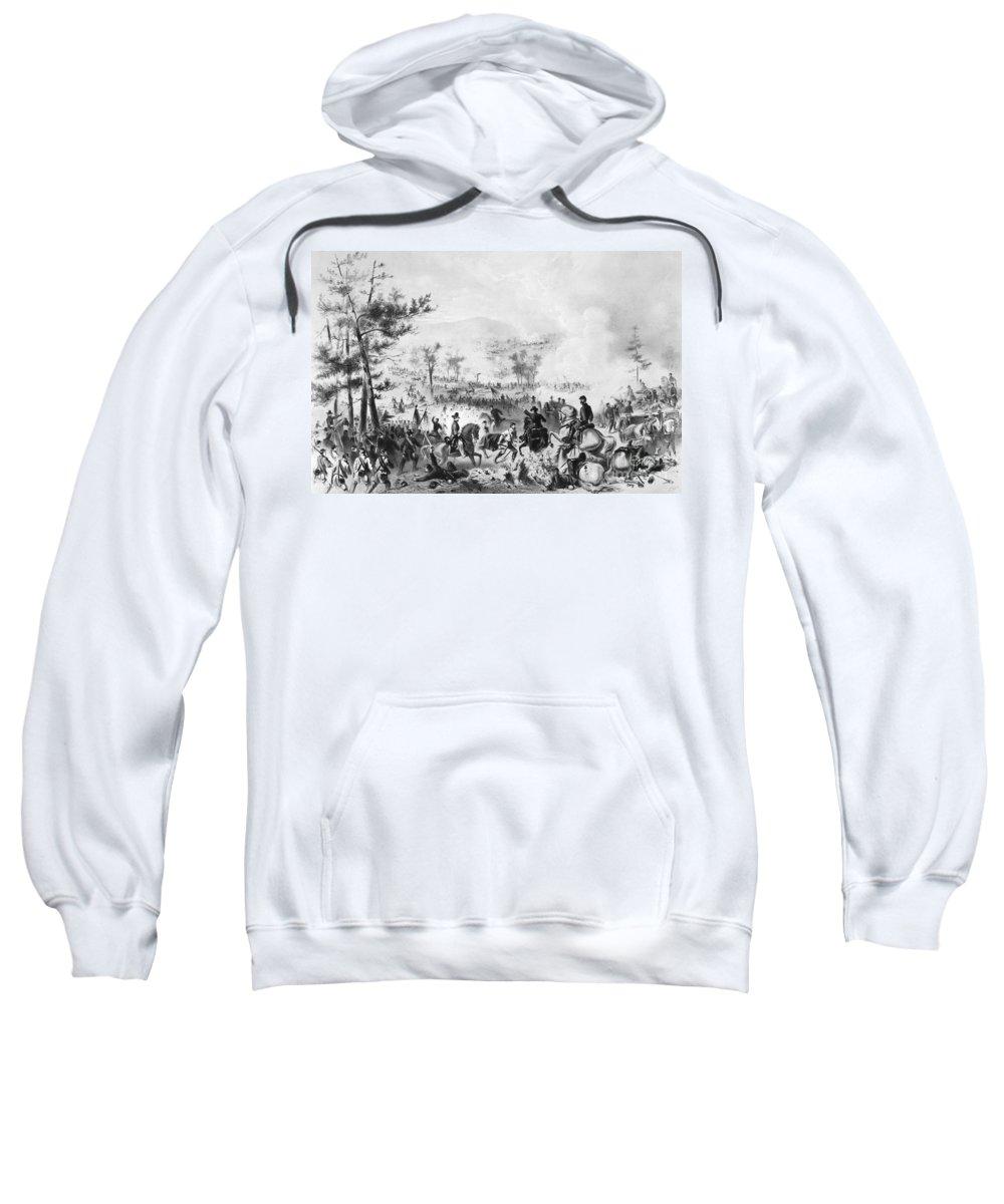 1863 Sweatshirt featuring the photograph Civil War: Gettysburg by Granger