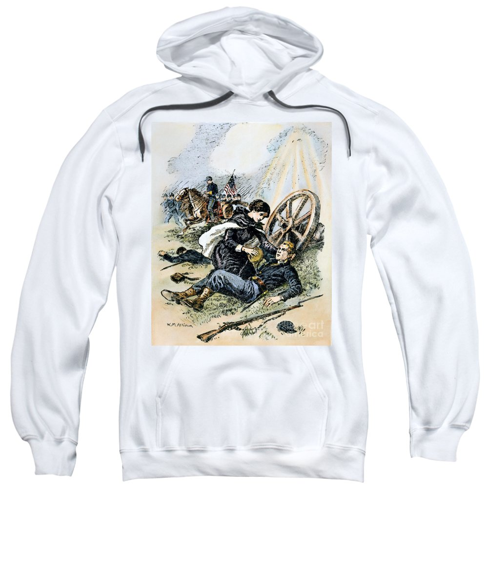 19th Century Sweatshirt featuring the photograph Clara Barton (1821-1912) by Granger