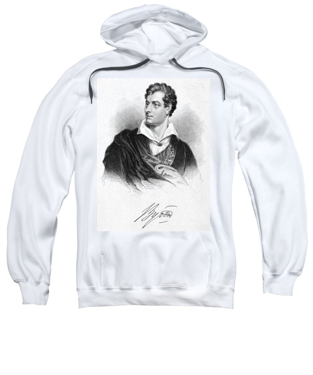 19th Century Sweatshirt featuring the photograph George Gordon Byron (1788-1824) by Granger
