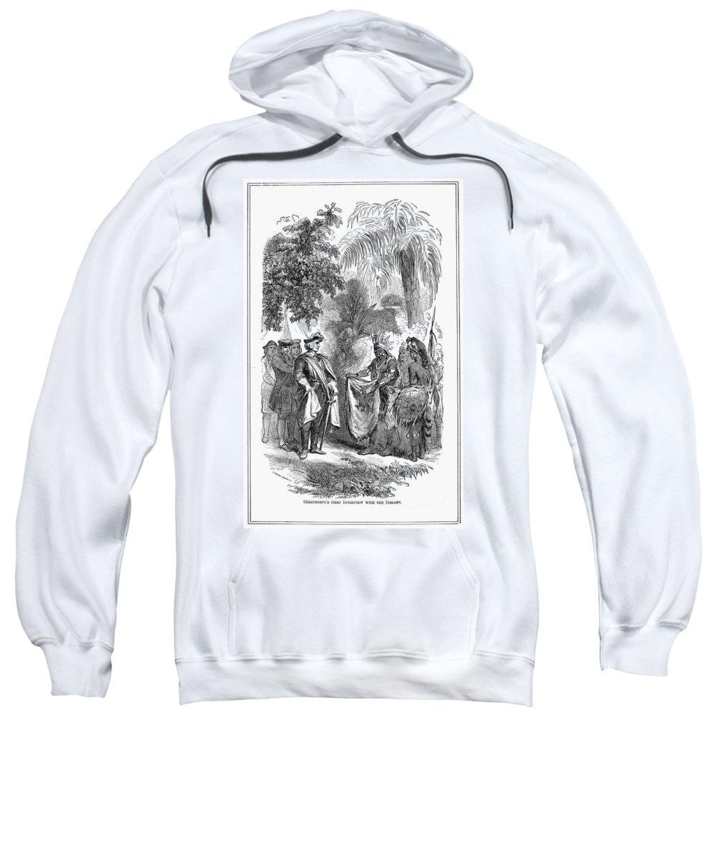 18th Century Sweatshirt featuring the photograph James Edward Oglethorpe by Granger