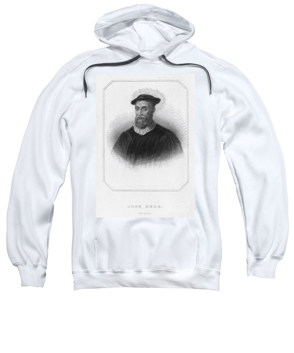 16th Century Sweatshirt featuring the photograph John Knox (1513-1572) by Granger