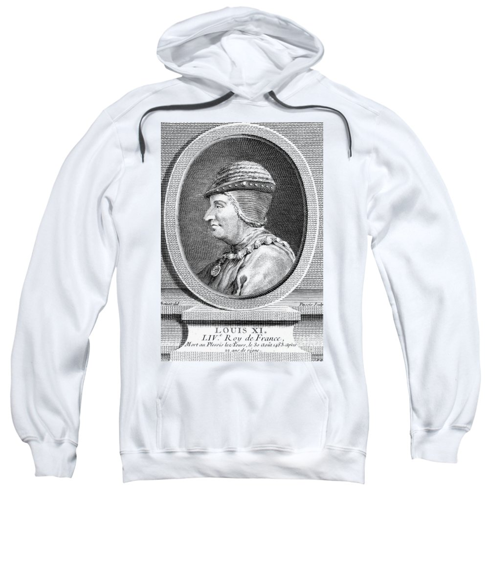 15th Century Sweatshirt featuring the photograph Louis Xi (1423-1483) by Granger