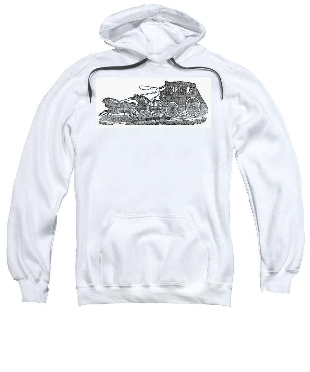 19th Century Sweatshirt featuring the photograph Stagecoach, 19th Century by Granger