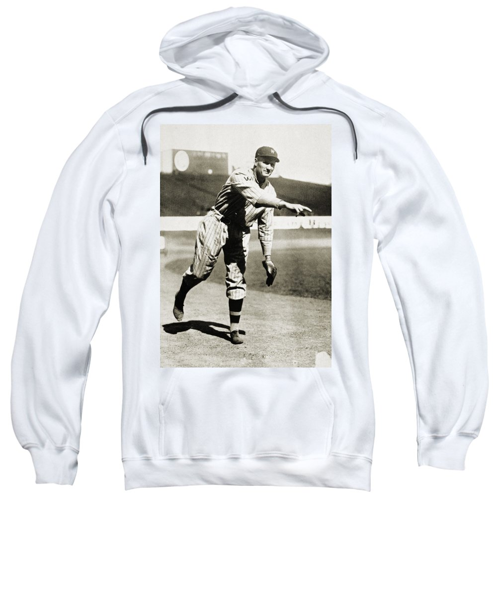 20th Century Sweatshirt featuring the photograph Walter Johnson (1887-1946) by Granger