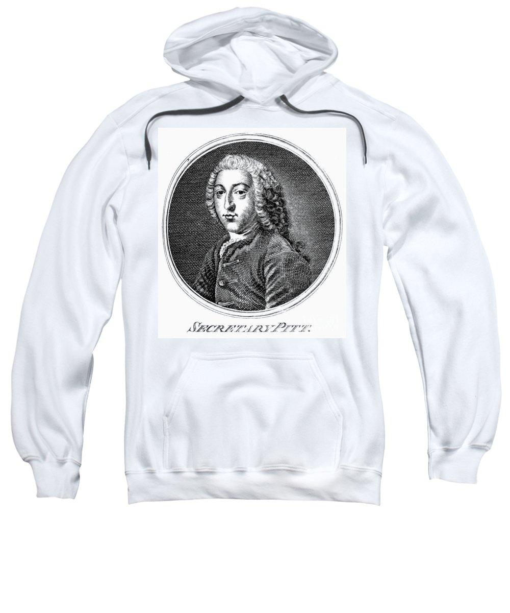 18th Century Sweatshirt featuring the photograph William Pitt (1708-1778) by Granger