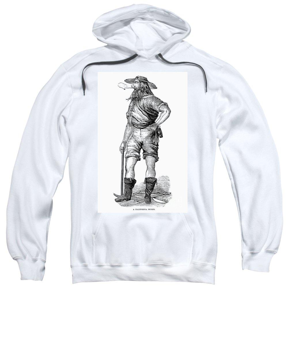 1852 Sweatshirt featuring the photograph California Gold Rush, 1852 by Granger