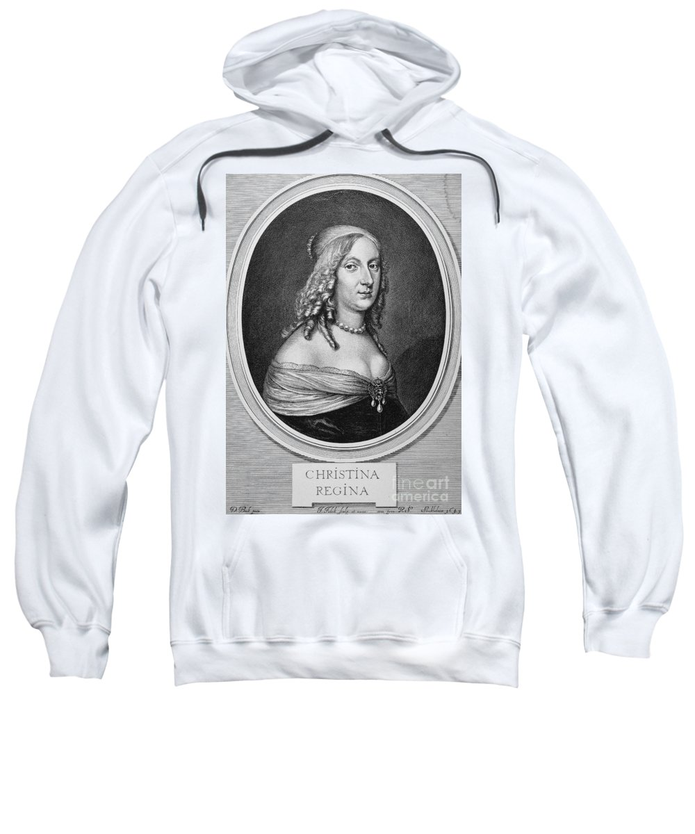 1649 Sweatshirt featuring the photograph Christina (1626-1689) by Granger