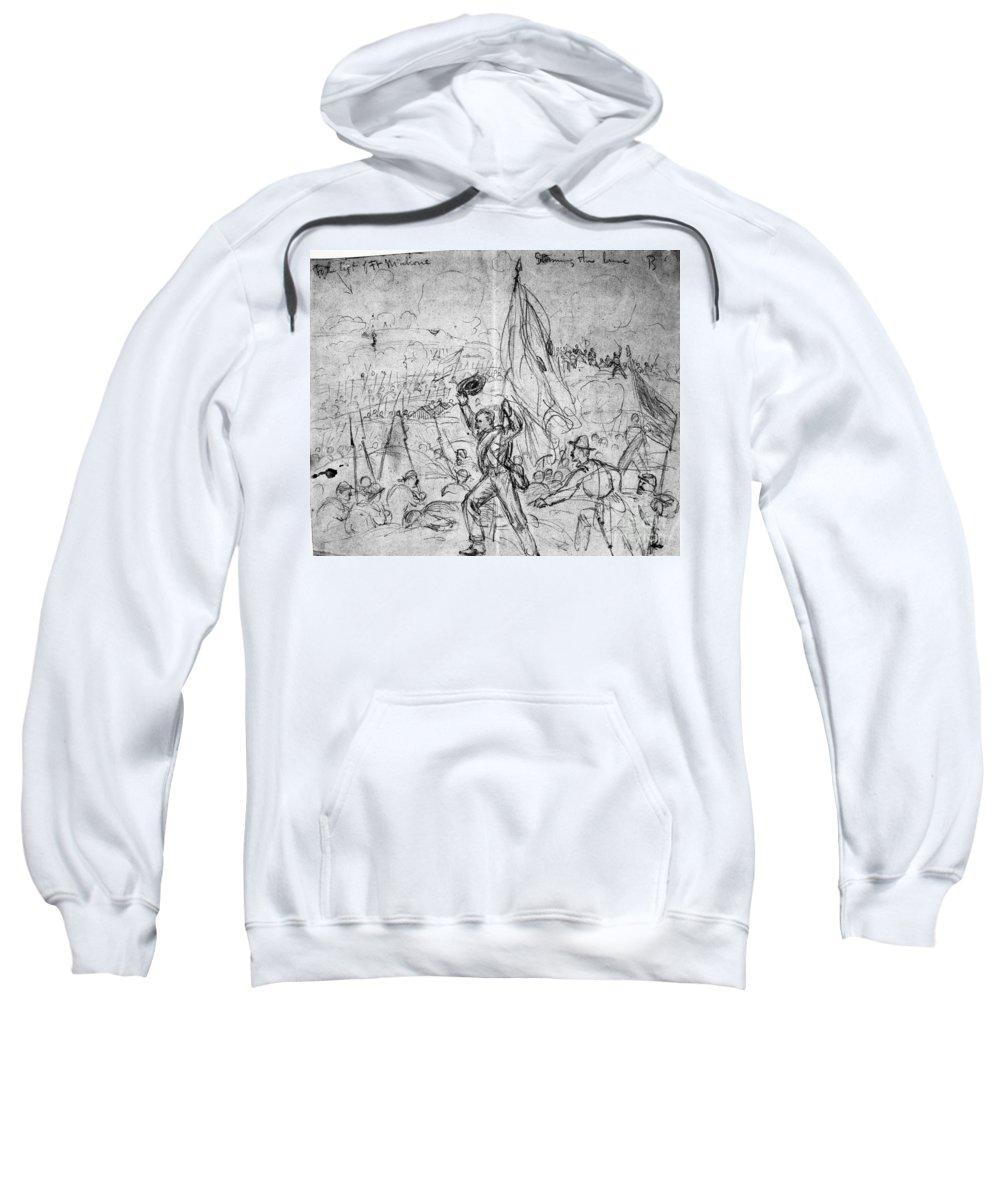 1865 Sweatshirt featuring the photograph Civil War: Petersburg by Granger