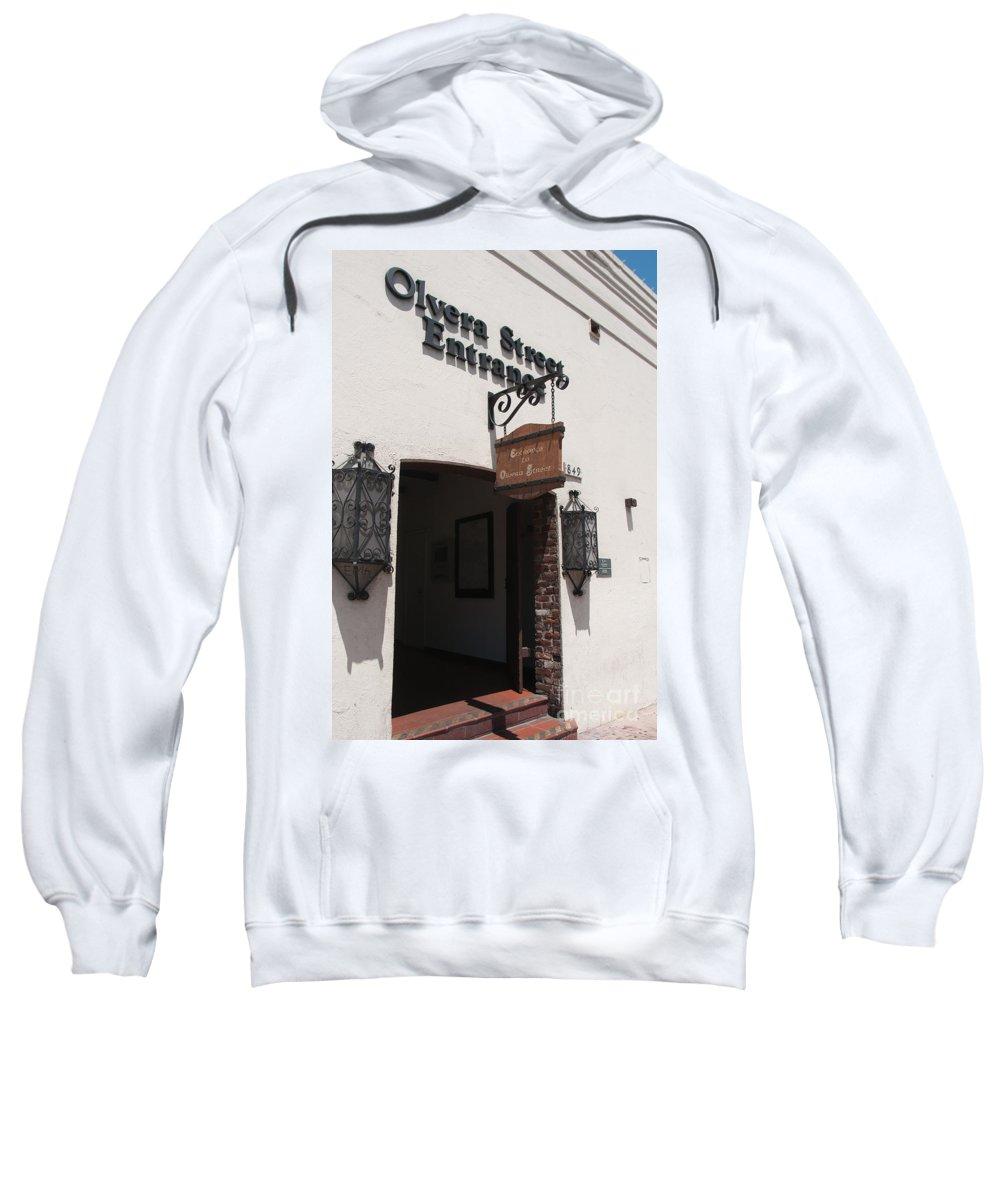California Sweatshirt featuring the digital art El Pueblo De Los Angeles by Carol Ailles