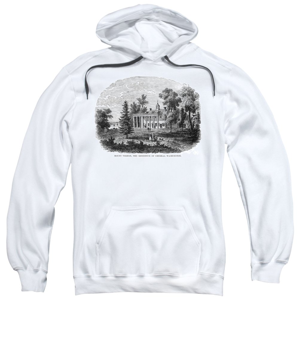 19th Century Sweatshirt featuring the photograph Mount Vernon by Granger