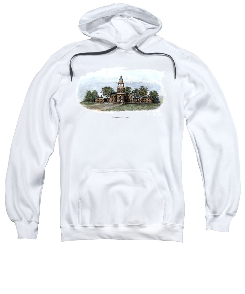 19th Century Sweatshirt featuring the photograph Philadelphia State House by Granger