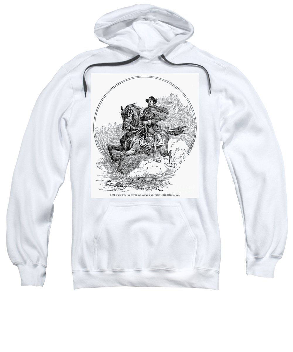 1863 Sweatshirt featuring the photograph Philip Henry Sheridan by Granger