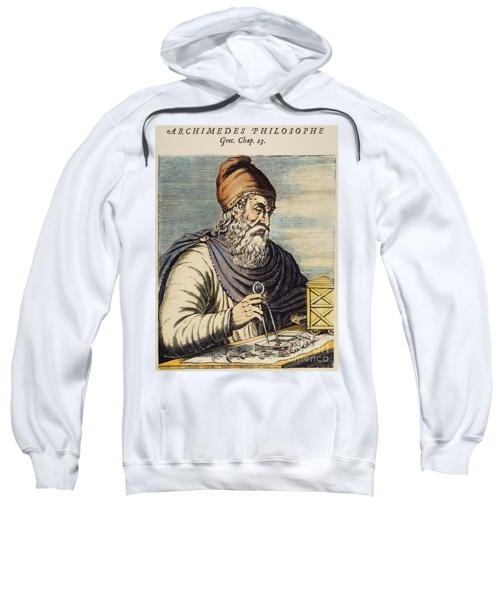 3rd Century B.c. Sweatshirt featuring the photograph Archimedes (287?-212 B.c.) by Granger