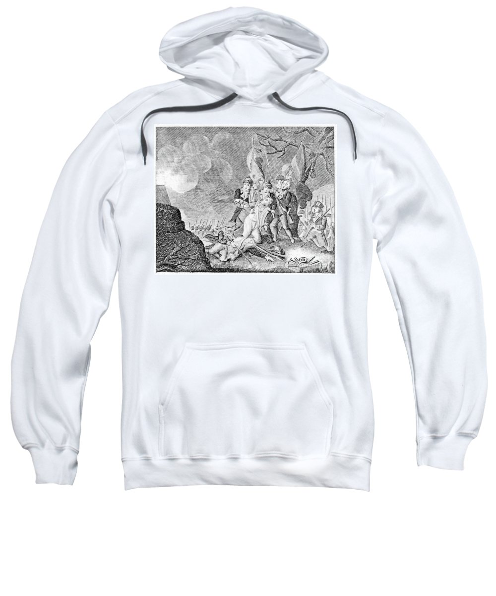 1775 Sweatshirt featuring the photograph Quebec Expedition, 1775 by Granger