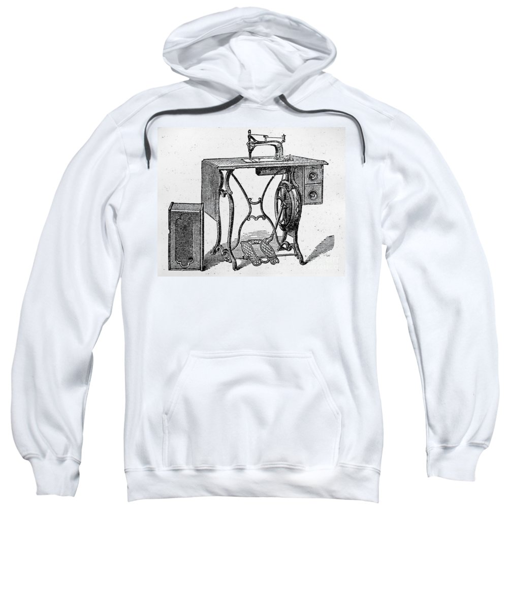 19th Century Sweatshirt featuring the photograph Sewing Machine by Granger