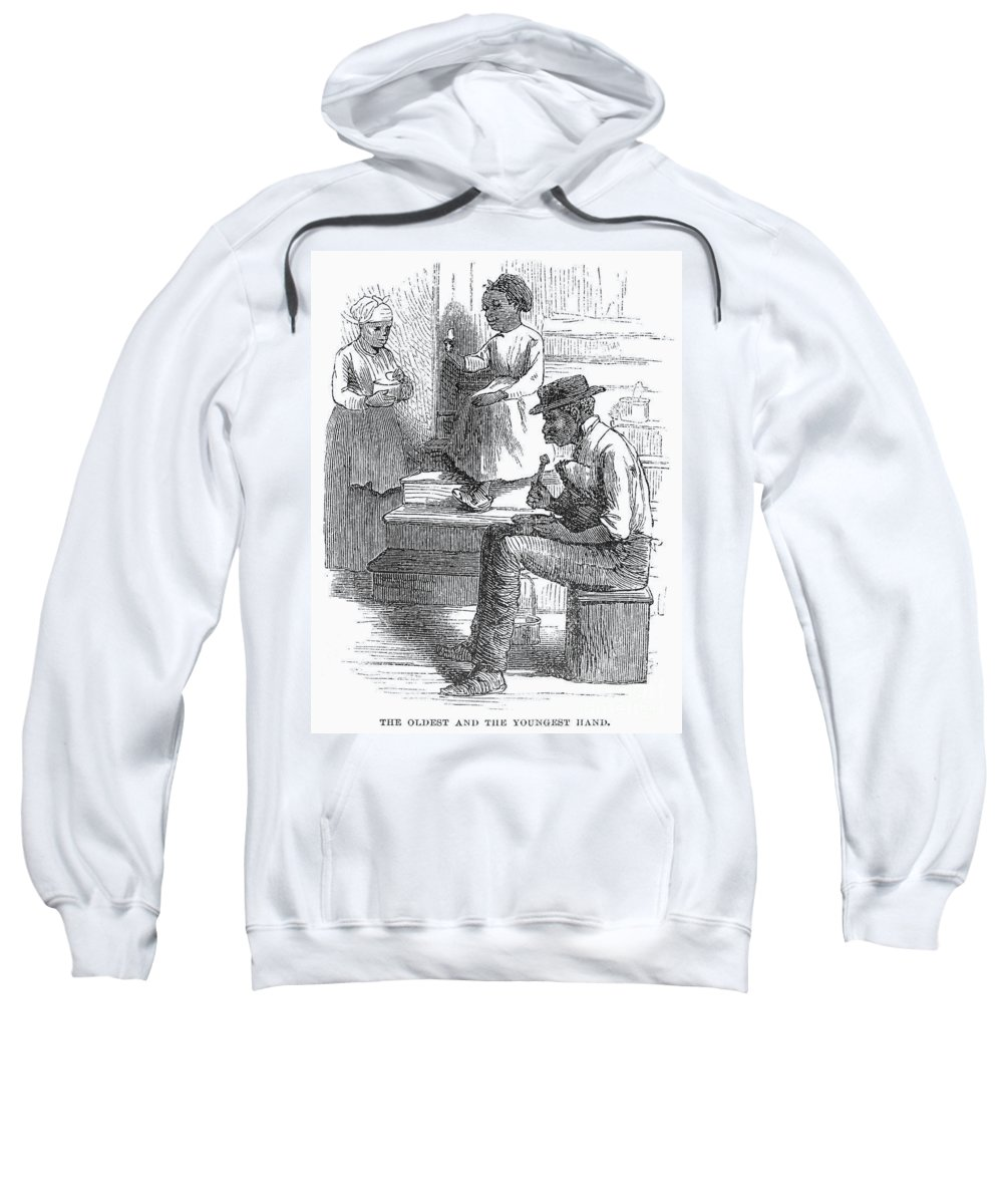 1880 Sweatshirt featuring the photograph Tobacco Factory, C1880 by Granger