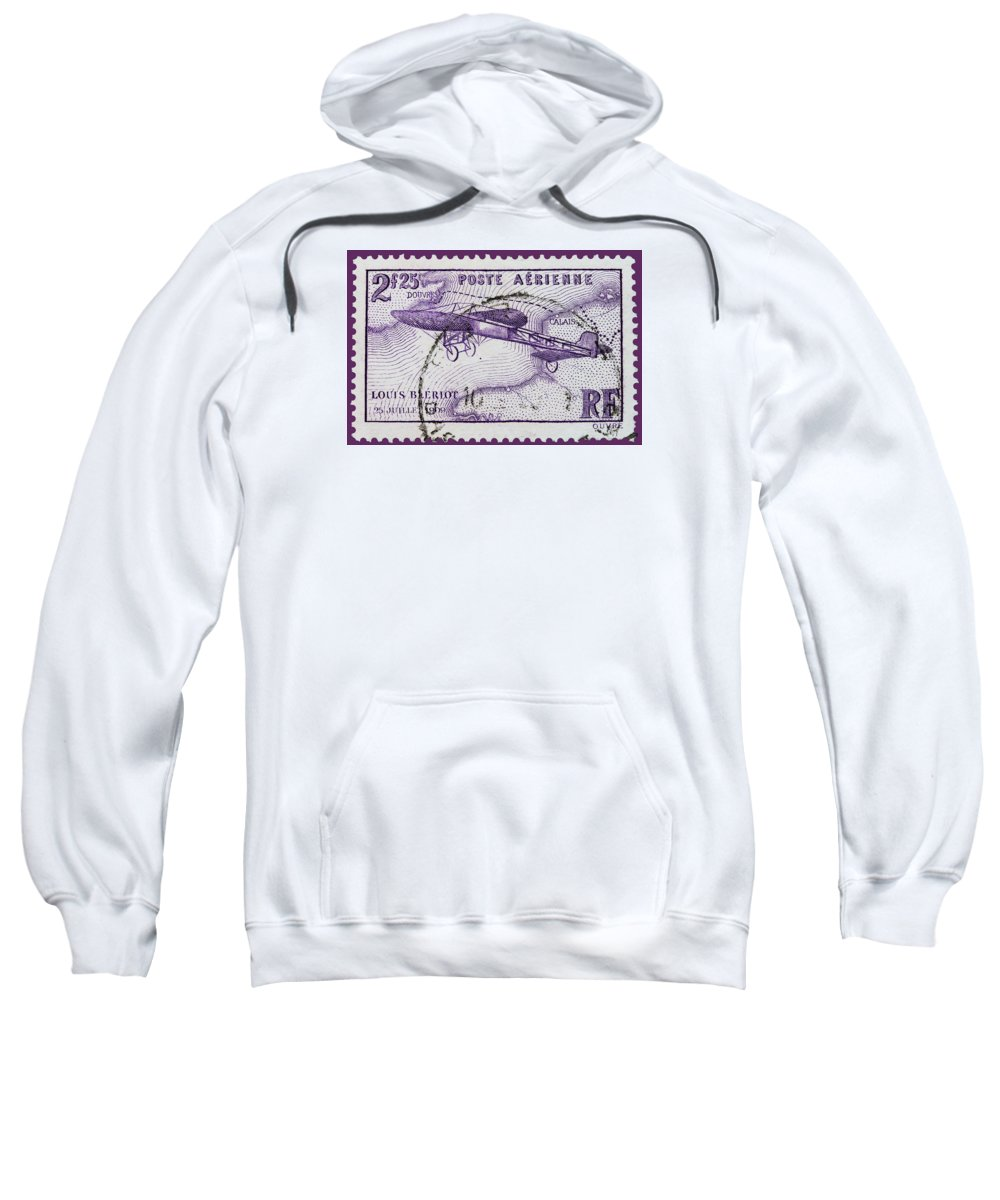 Old French Postage Stamp Sweatshirt featuring the photograph old French postage stamp by James Hill