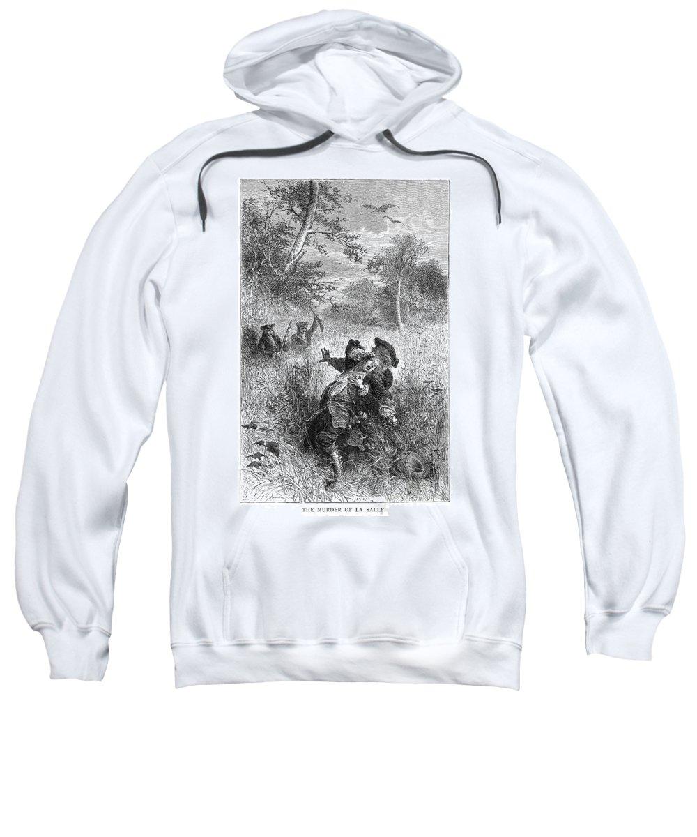 1687 Sweatshirt featuring the photograph Sieur De La Salle by Granger
