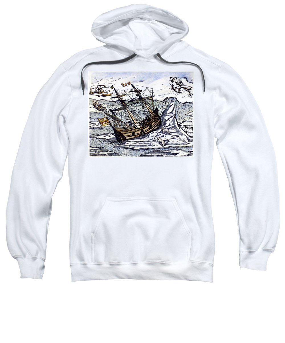 1590s Sweatshirt featuring the photograph Willem Barents (c1550-1597) by Granger