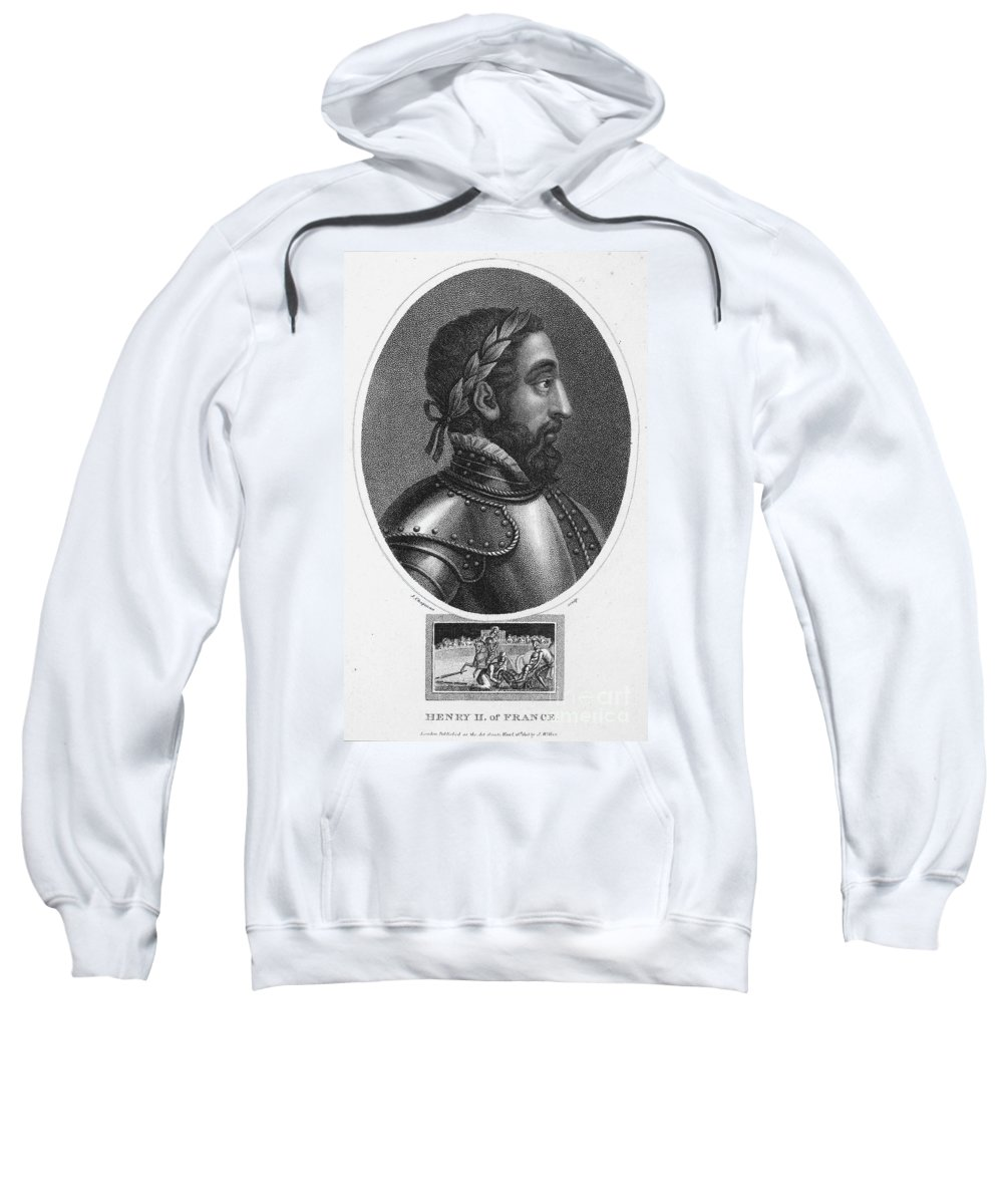 16th Century Sweatshirt featuring the photograph Henry II (1519-1559) by Granger