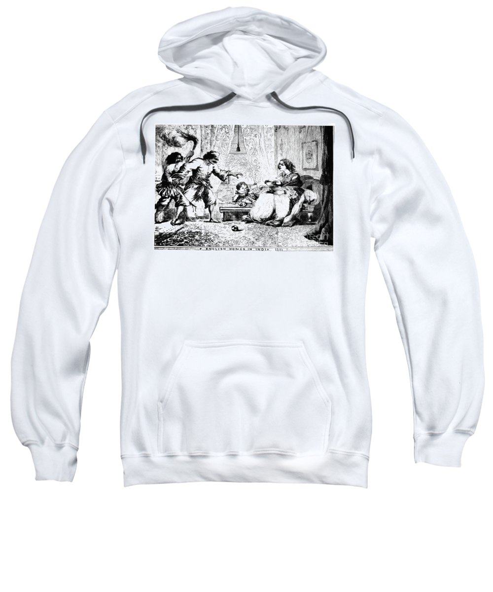 1857 Sweatshirt featuring the photograph India: Sepoy Rebellion, 1857 by Granger