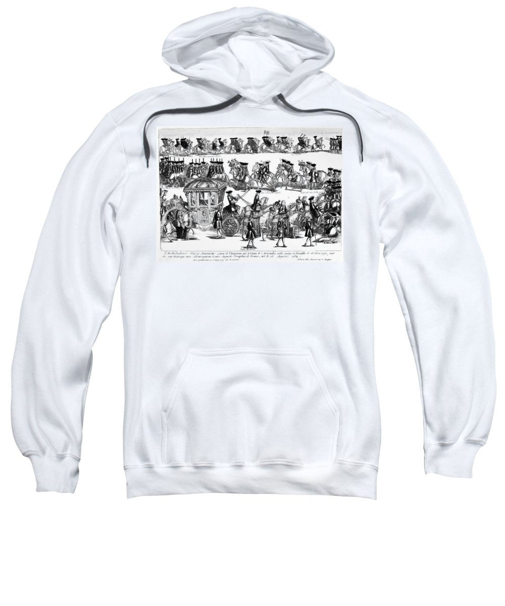 1770 Sweatshirt featuring the photograph Marie Antoinette (1755-1793) by Granger